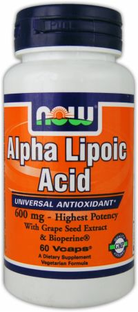 NOW, Alpha Lipoic Acid Plus, 600мг/120 капсул