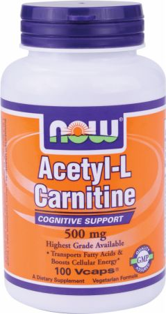 NOW, Acetyl-L-Carnitine, 500мг/100 капсул