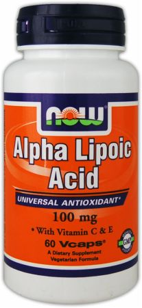 NOW, Alpha Lipoic Acid, 100мг/120 капсул
