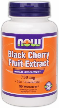 NOW, Black Cherry Fruit Extract, 90 капсул