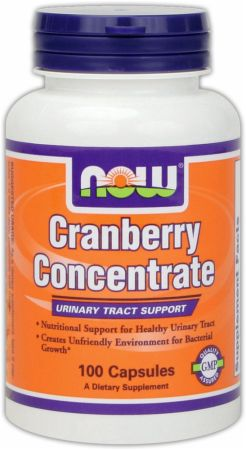 NOW, Cranberry Concentrate, 100 капсул