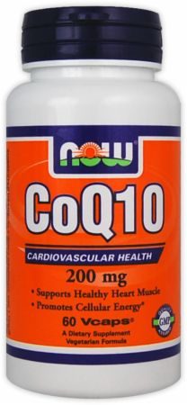 NOW, CoQ10, 200мг/60 капсул