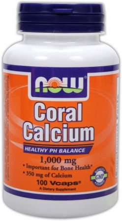 NOW, Coral Calcium, 1000мг/100 капсул
