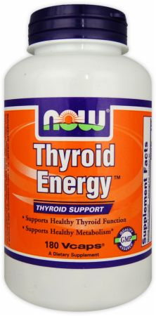 NOW, Thyroid Energy, 180 капсул
