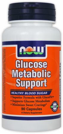 NOW, Glucose Metabolic Support, 90 капсул