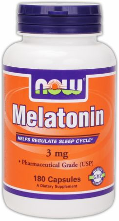 NOW, Melatonin, 3мг/60 капсул