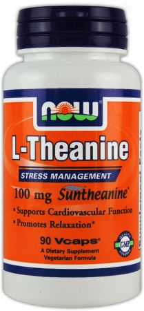 NOW, L-Theanine, 90 капсул