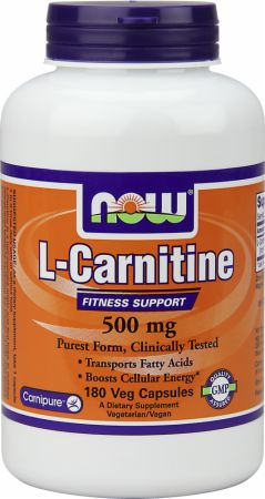 NOW, L-Carnitine, 250мг/60 капсул