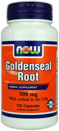 NOW, Goldenseal Root, 100 капсул