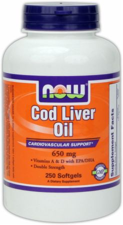 NOW, Cod Liver Oil - Double Strength, 250 капсул