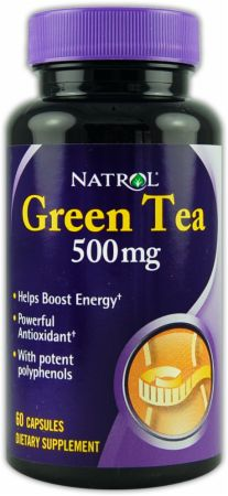 Natrol, Green Tea, 500мг/60 капсул