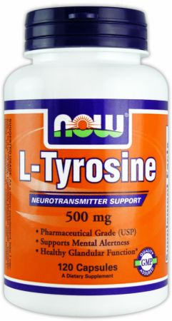 NOW, L-Tyrosine, 120 капсул