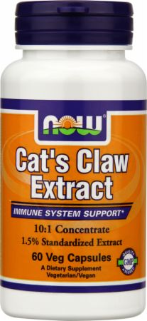 NOW, Cat's Claw Extract, 60 капсул