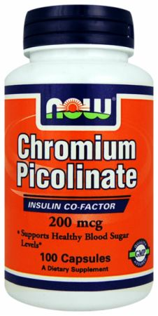 NOW, Chromium Picolinate, 200мкг/100 капсул