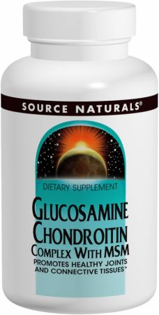 Source Naturals, Glucosamine Chondroiton Complex With MSM, 120 таблеток