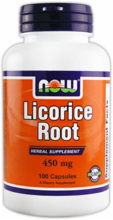 NOW, Licorice Root, 100 капсул