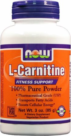 NOW, L-Carnitine Powder, 85 грамм