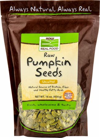 NOW, Raw Pumpkin Seeds, 454 грамма