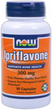 NOW, Ipriflavone, 90 капсул