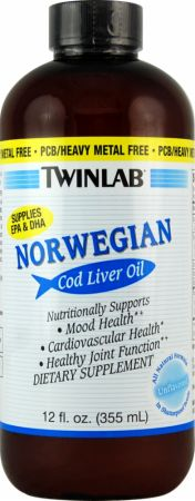 Twinlab, Norwegian Cod Liver Oil Liquid, 355 мл