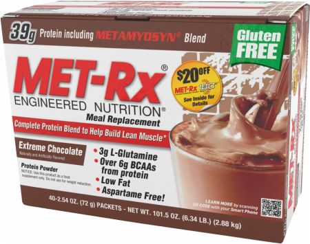 Met-Rx, Meal Replacement, 40 упаковок