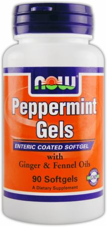 NOW, Peppermint Gels, 90 капсул