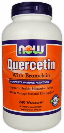 NOW, Quercetin With Bromelain, 120 капсул