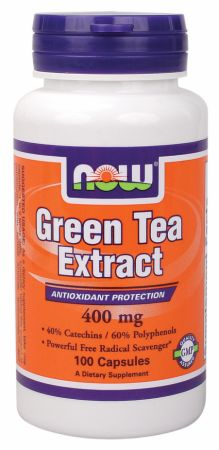 NOW, Green Tea Extract, 100 капсул