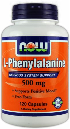 NOW, L-Phenylalanine, 500мг/120 капсул