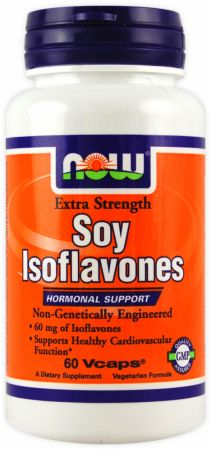 NOW, Soy Isoflavones, 60 капсул