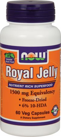 NOW, Royal Jelly, 1500мг/60 капсул