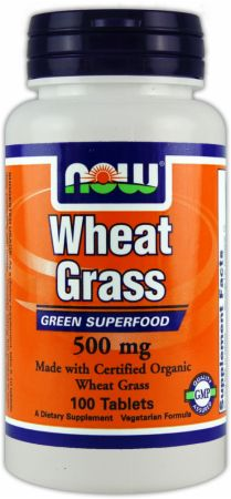 NOW, Wheat Grass, 100 таблеток