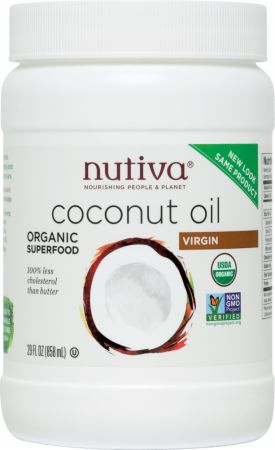 Nutiva, Organic Extra-Virgin Coconut Oil, 822 грамма