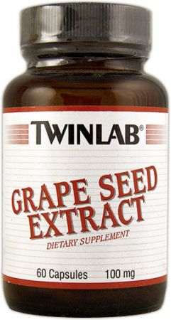 Twinlab, Grape Seed Extract, 100мг/60 капсул