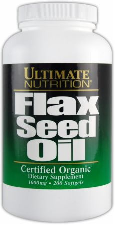 Ultimate Nutrition, Flax Seed Oil, 200 капсул