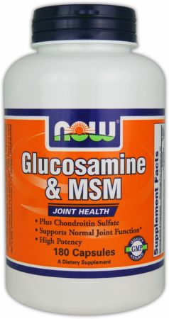 NOW, Glucosamine & MSM, 60 капсул