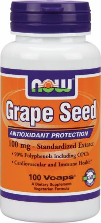 NOW, Grape Seed, 100 капсул