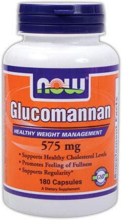 NOW, Glucomannan, 575мг/180 капсул