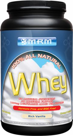 MRM, 100% All Natural Whey, 454 грамма
