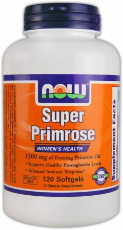 NOW, Super Primrose, 1300мг/120 капсул