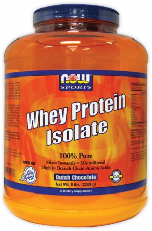 NOW, Whey Protein Isolate, 2268 грамм