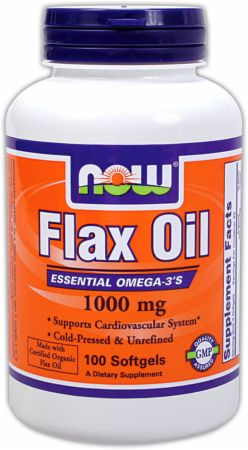 NOW, Flax Oil, 1000мг/250 капсул
