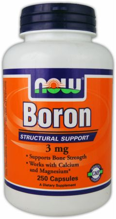NOW, Boron, 250 капсул