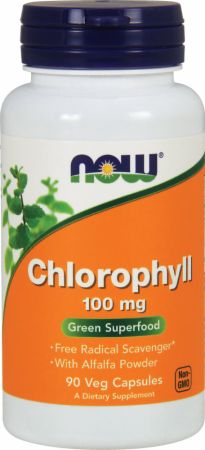 NOW, Chlorophyll, 90 капсул