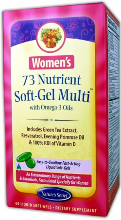 Nature's Secret, Women's 73 Nutrient Soft-Gel Multi, 60  капсул