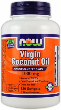NOW, Virgin Coconut Oil, 120 капсул