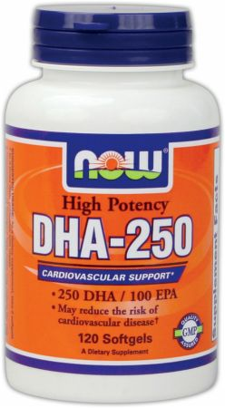 NOW, DHA-250, 120 капсул