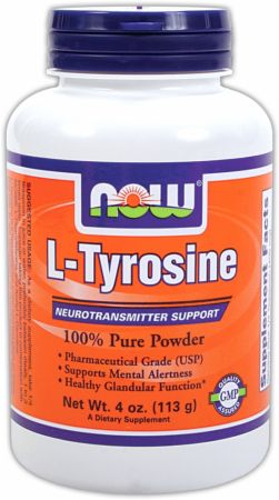 NOW, L-Tyrosine Powder, 113 грамм