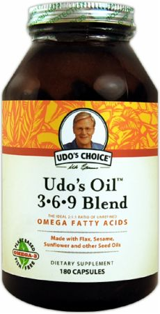 Udo's Choice, Udo's 3-6-9 Oil Blend, 180 капсул
