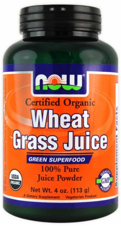 NOW, Wheat Grass Juice Powder, 114 грамм